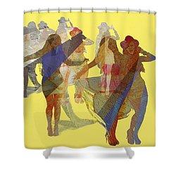 Yellow Dance Shower Curtain