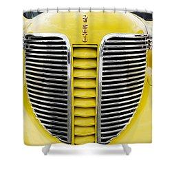 Yellow Desoto Grill Shower Curtain by Patrick Chuprina
