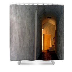 Shower Curtain featuring the photograph Yellow Door by Lynda Lehmann