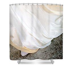 Yellow Dress #9936 Shower Curtain by Andrey Godyaykin