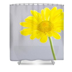 Yellow Drops Shower Curtain