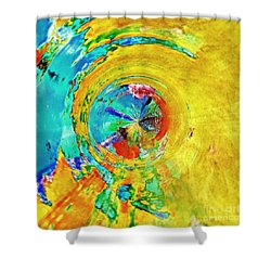 Yellow Eclipse  Shower Curtain