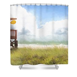 Yellow Flag, Santa Maria Island, Florida Shower Curtain
