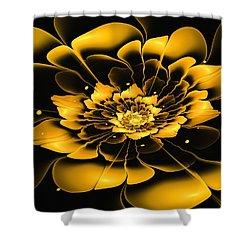 Yellow Flower Shower Curtain by Anastasiya Malakhova