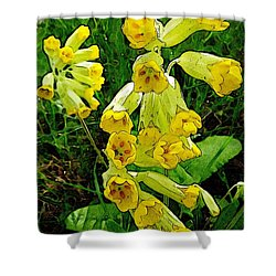 Yellow Flowers 2 Shower Curtain by Jean Bernard Roussilhe
