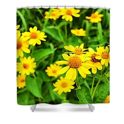 Yellow Flowers No. 2 Shower Curtain