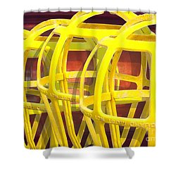 Yellow Guard Shower Curtain by Ron Bissett