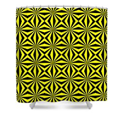 Shower Curtain featuring the digital art Yellow Happiness by Lucia Sirna
