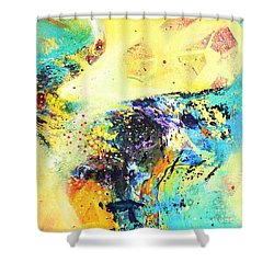 Yellow Harmy Shower Curtain