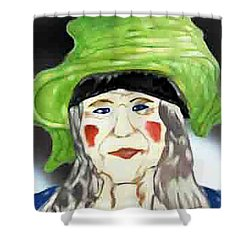 Yellow Hat Shower Curtain