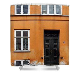 The Orange House Copenhagen Denmark Shower Curtain