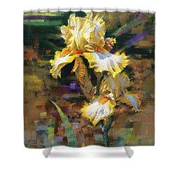 Yellow Iris II Shower Curtain