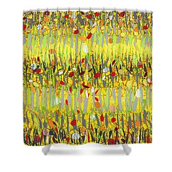 Yellow Jazz Shower Curtain