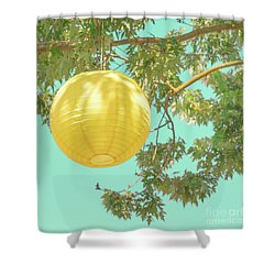 Shower Curtain featuring the photograph Yellow Lantern by Cindy Garber Iverson