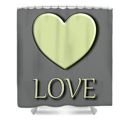 Yellow Love Shower Curtain