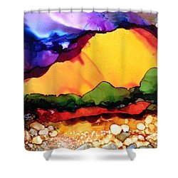 Yellow Mountain Shower Curtain