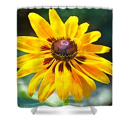 Shower Curtain featuring the photograph Yellow One by Marty Koch