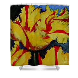 Yellow Parrot Shower Curtain
