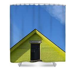 Yellow Peak Shower Curtain