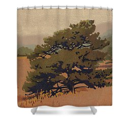Yellow Pine Shower Curtain
