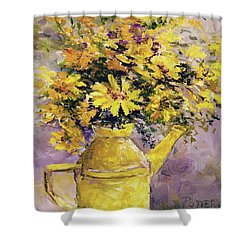 Yellow Pot Of Sunshine Shower Curtain