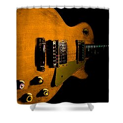 Yellow Relic Guitar Hover Series Shower Curtain