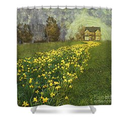 Shower Curtain featuring the photograph Yellow River To My Door by LemonArt Photography