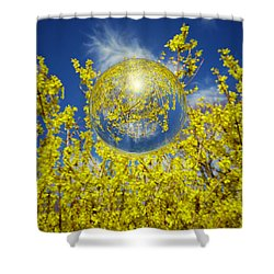 Shower Curtain featuring the photograph Yellow by Robert Geary
