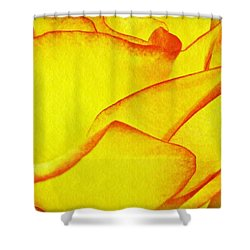 Yellow Rose Abstract Shower Curtain