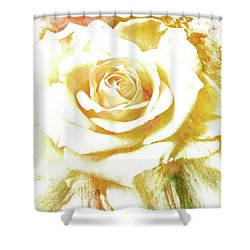 Shower Curtain featuring the photograph yellow Rose by Athala Carole Bruckner