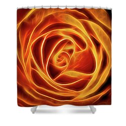 Yellow Rose Glow Square Shower Curtain by Terry DeLuco