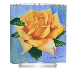 Yellow Rose Shower Curtain by Marna Edwards Flavell
