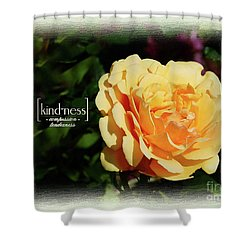 Yellow Rose Of Kindness Shower Curtain