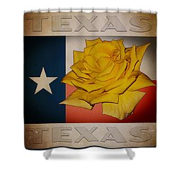 Yellow Rose On Texas Shower Curtain by William Havle