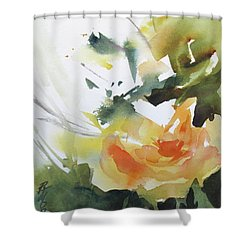 Yellow Rose Shower Curtain by Rae Andrews