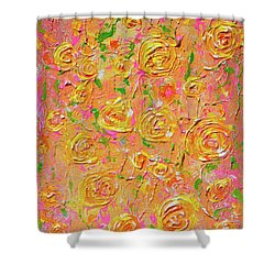 Yellow Roses Of Texas Shower Curtain