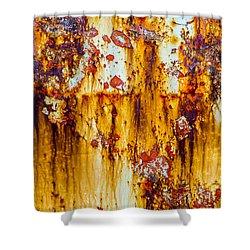 Yellow Rust Shower Curtain