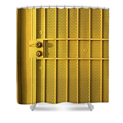 Yellow Security Door Venice Beach California Shower Curtain