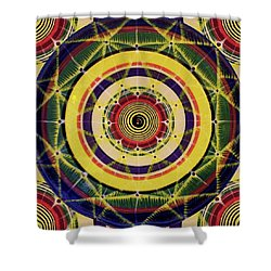 Shower Curtain featuring the painting Yellow Spiral by Kym Nicolas