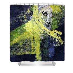Shower Curtain featuring the painting Yellow Splash by Nancy Merkle