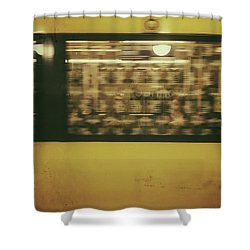 Shower Curtain featuring the photograph Yellow Subway Train by Ivy Ho
