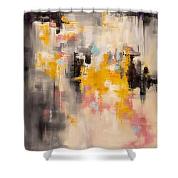 Yellow Sun Shower Curtain
