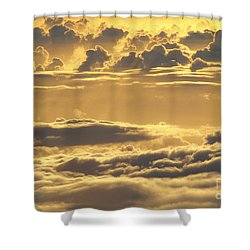 Yellow Sunset Shower Curtain by Carl Shaneff - Printscapes
