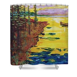 Yellow Sunset Shower Curtain