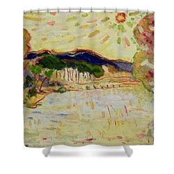 Beynac Et Cazenac , Dordogne , Yellow Sunshine  Shower Curtain by Pierre Van Dijk