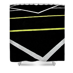 Yellow Traffic Lines In The Middle Shower Curtain