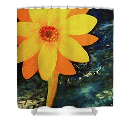 Yellow Treat Shower Curtain