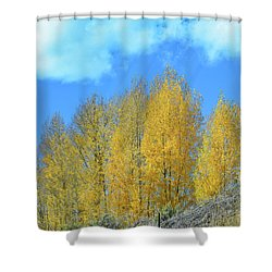 Yellow Trees No. 4 Shower Curtain