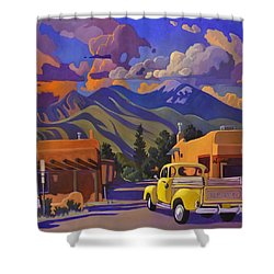 Yellow Truck Square Shower Curtain