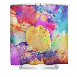 Yellow Tulip Shower Curtain by Toni Hopper